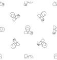 hipster man take selfie pattern seamless vector image vector image