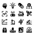 invention research icon set vector image vector image