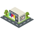 isometric hardware shop paint store vector image vector image