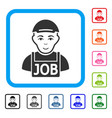 jobless framed glad icon vector image vector image