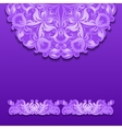 lace pattern with shadow vector image vector image