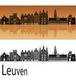 leuven skyline vector image vector image