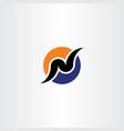 logo design letter n vector image