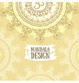 mandala background round ornament pattern vintage vector image vector image