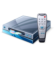 media player and remote control vector image vector image