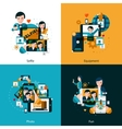 Mobile photo concept icons set vector image vector image
