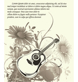music wallpaper with guitar vector image vector image
