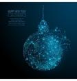 new year ball vector image vector image