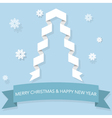 Paper Christmas Concept vector image