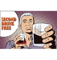 People in style popart Man offering drink alcohol vector image vector image