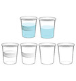 plastic glass vector image