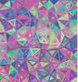 Retro irregular triangle mosaic background vector image vector image