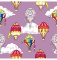 Seamless pattern with clouds and hot air ballons vector image vector image