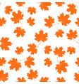 seamless texture with maple leaves vector image vector image