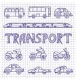 Set ground transport sketch vector image vector image