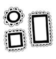 set hand drawn doodle frames vector image