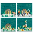 Set of Christmas Celebrating Concepts vector image vector image