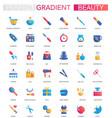 set trendy flat gradient beauty vector image