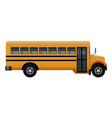 side door of school bus mockup realistic style vector image vector image