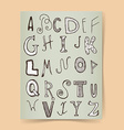 Sketch alphabet poster vector image vector image