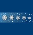 snowflake paper cut 3d icons or snow symbols vector image vector image