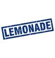 square grunge blue lemonade stamp vector image vector image