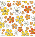 sunny floral seamless repeat pattern ditsy vector image vector image