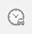 taxi time concept outline icon car with vector image vector image