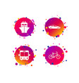 transport icons car bicycle bus and ship vector image vector image