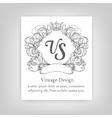 vintage emblem monogram vector image vector image