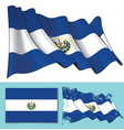waving flag of el salvador vector image vector image