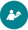Man Serving Food vector image