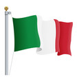 waving italy flag isolated on a white background vector image