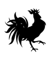 Black and white drawing of a rooster Isolated vector image