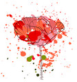 drawing poppy flower vector image
