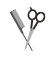 barbershop scissor with comb vector image