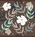 beautiful burlap floral repeat print pattern in vector image vector image