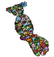 bird doodle cartoon - hand drawing vector image vector image