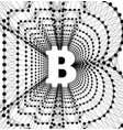 bitcoin - electronic form money and innovative vector image vector image