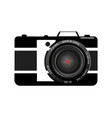 black camera on white vector image
