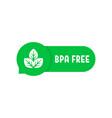 bpa free simple green speech bubble vector image