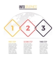 Business infographics Timeline with 3 steps vector image vector image