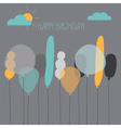 Card with balloons for a birthday vector image vector image