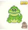 Cartoon Croc Character vector image