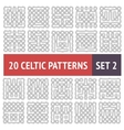 celtic patterns set vector image