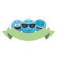 chat emoticons with ribbon banner vector image vector image