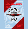 color vintage agency of extreme banner vector image vector image