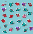colored fish concept icons pattern vector image
