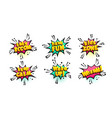 comic text speech bubble pop art style vector image