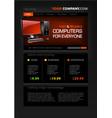 computer shop web page templat vector image vector image